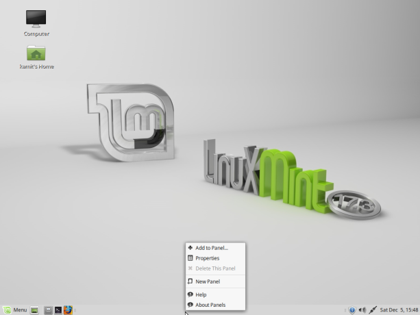 Linux Mint 17.3 MATE desktop