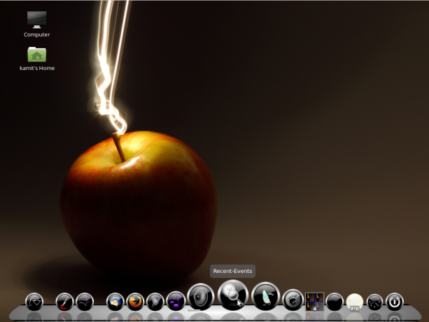Linux Mint 17.3 MATE Cairo-Dock