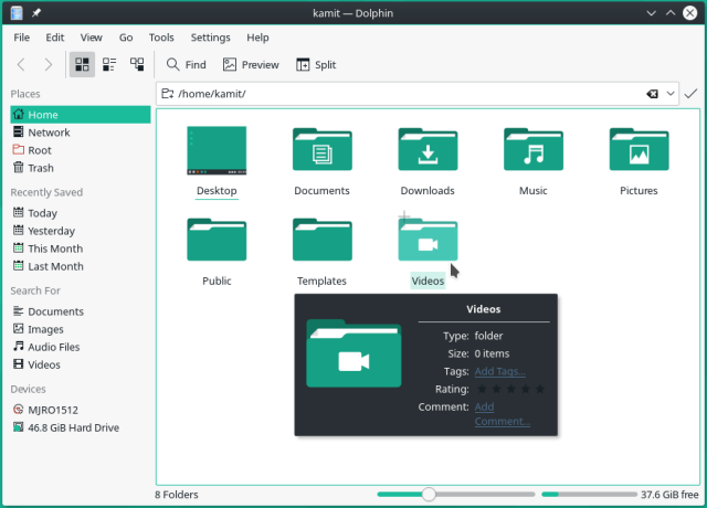 KDE Dolphin file manager