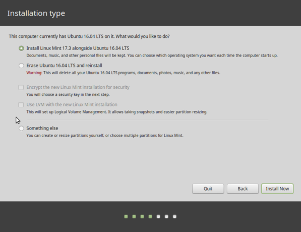 Linux Mint 17.3 installer