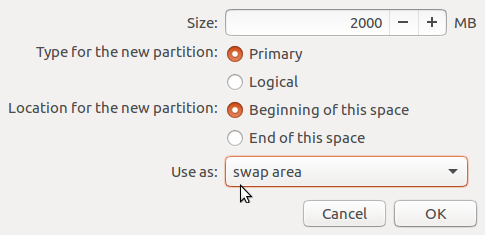 Ubuntu 16.10 swap partition