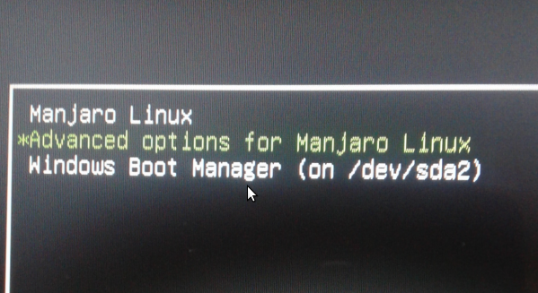 Dual-boot Manjaro 16 10, Windows 10 on a computer with UEFI firmware