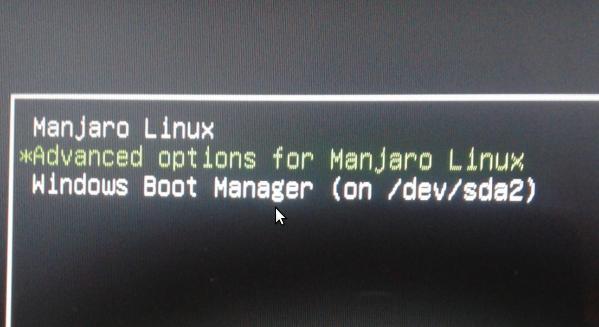 Manjaro update-grub