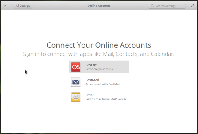 Online Accounts elementary OS 0.4