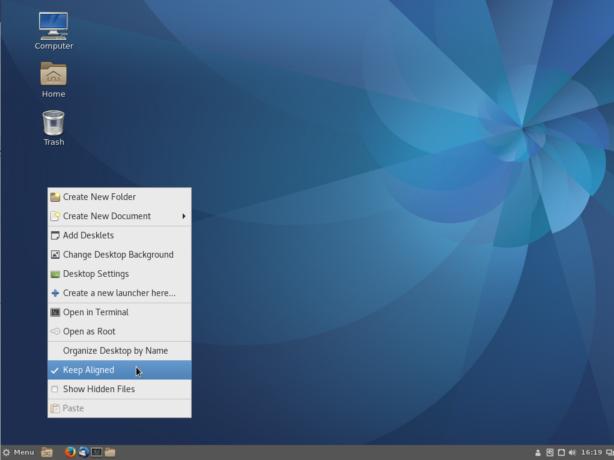 Fedora 25 Cinnamon desktop