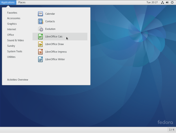 Fedora 25 GNOME 3