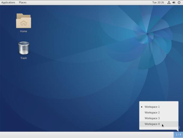 Fedora 25 GNOME 3 classic desktop