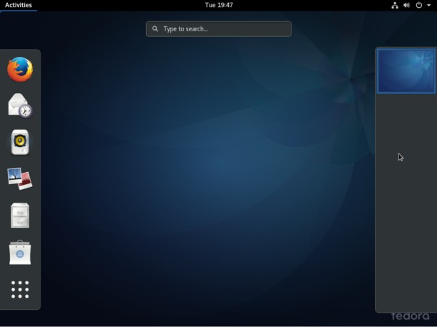 Fedora 25 GNOME 3 activities