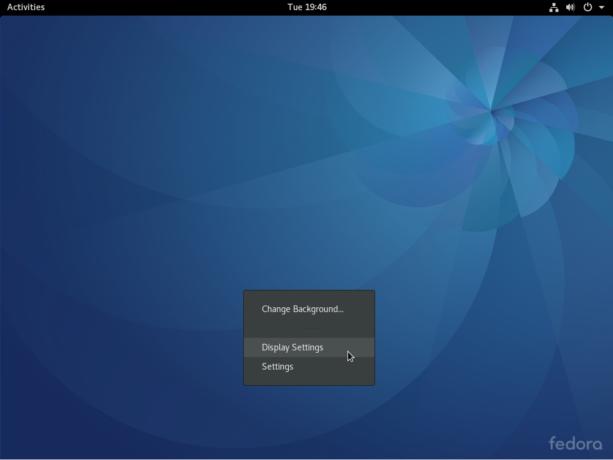 Fedora 25 GNOME 3 desktop