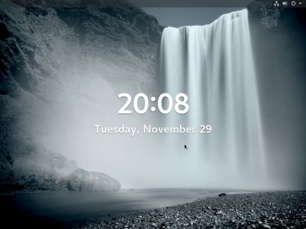 Figure 13: Lock screen of Fedora 25 GNOME 3