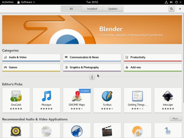 Fedora 25 GNOME Software
