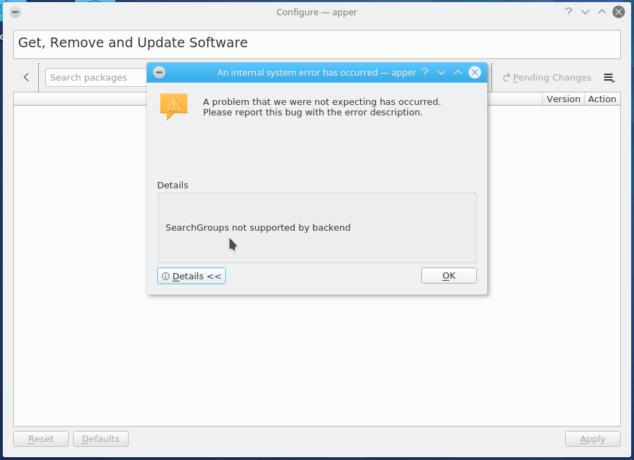 Apper Fedora 25 KDE