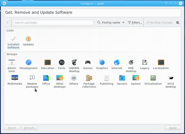 Fedora 25 KDE Apper