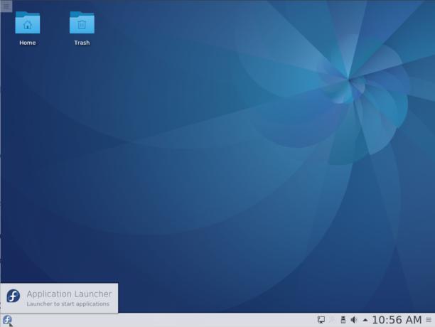 Fedora 25 KDE desktop