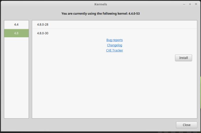 Linux Mint 18.1 4.8 kernels