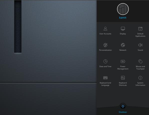 Manjaro Deepin 16.10.3 system settings