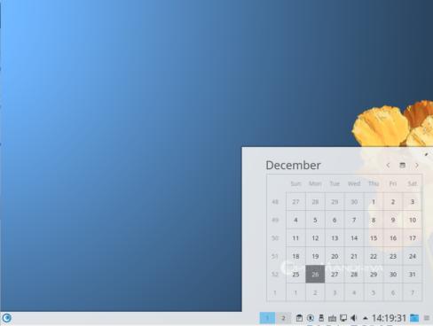 OpenMandriva Lx 3 panel calendar