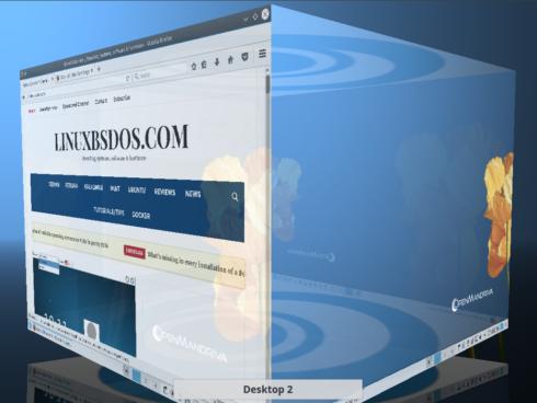 OpenMandriva Lx 3 desktop cube