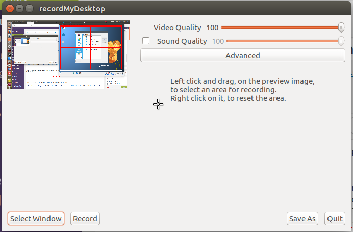 GTK recordMyDesktop