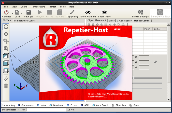 Repetier-Host for 3D printers