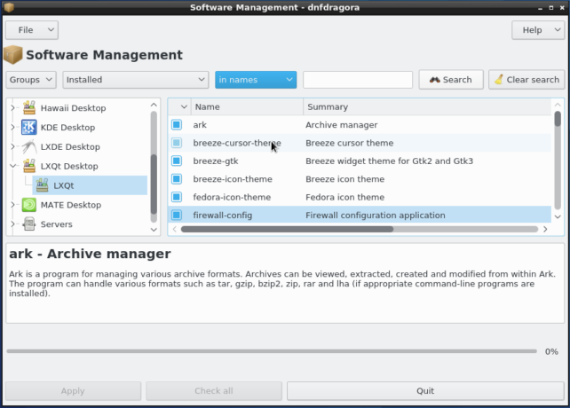 dnfdragora graphical package manager