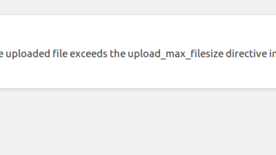 Error uploading huge file in WordPress