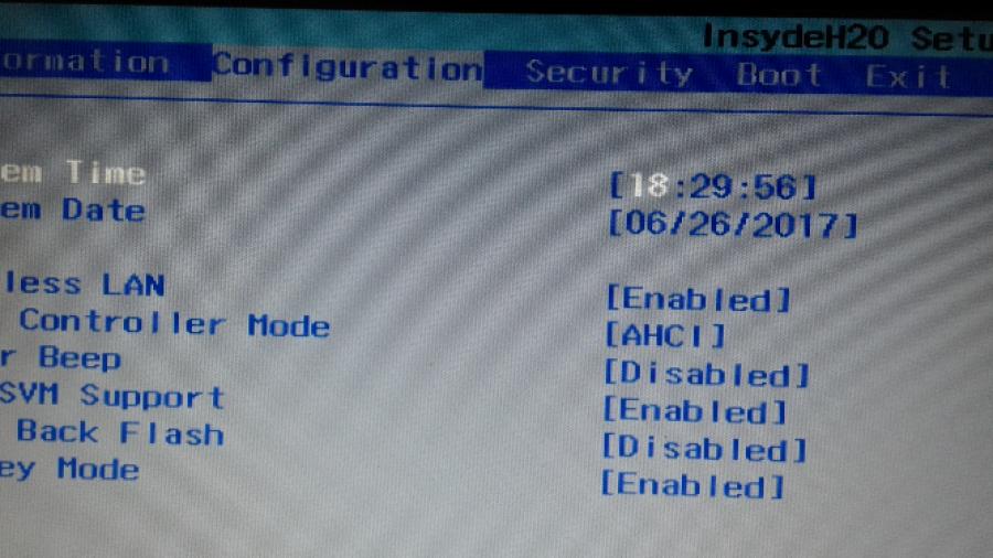 SVM enabled