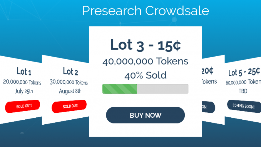 Presearch token sale