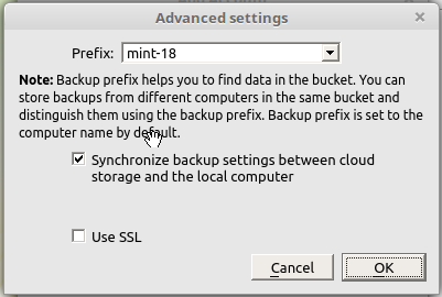 CloudBerry Backup SSL