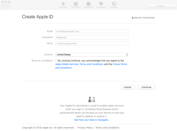 Creating an Apple ID