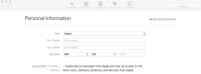 Identification for Apple ID