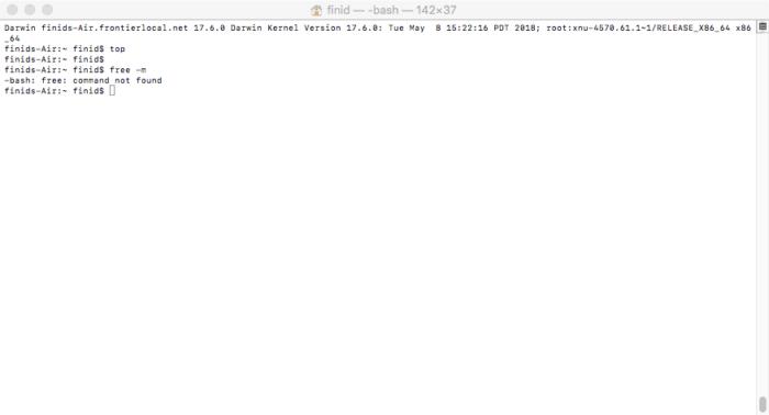 macOS terminal application