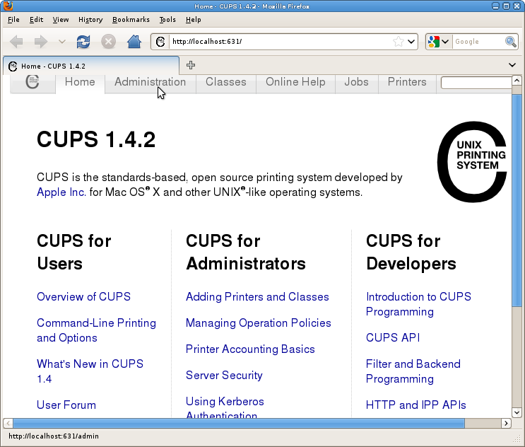 CUPS access