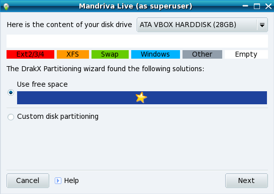 Mandriva partitioner