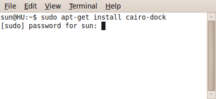 Installing Cairo-Dock from the cli