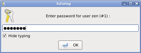user's password