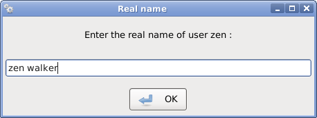 user's real name