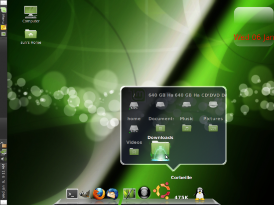 Cairo-Dock on Linux Mnt 8