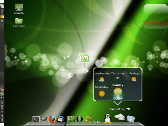 Cairo-Dock on Linux Mint 8