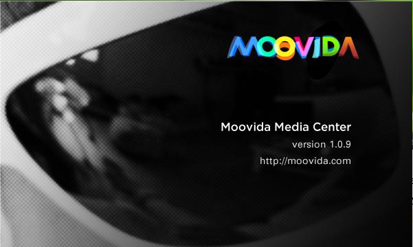 Moovida media center splash screen