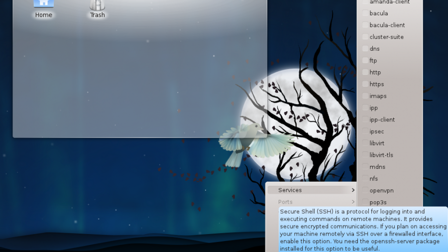 Fedora 15 KDE Firewalld Applet