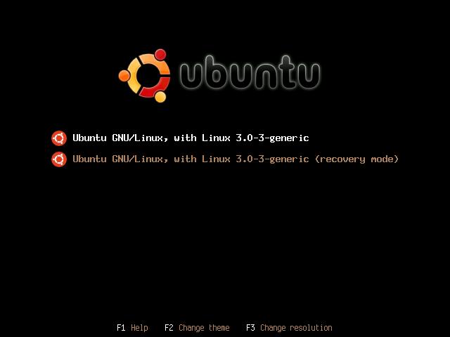 BURG menu in Ubuntu 11.10