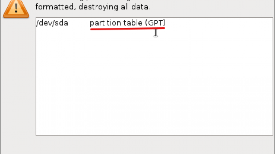 GPT Partition Fedora 16 Anaconda