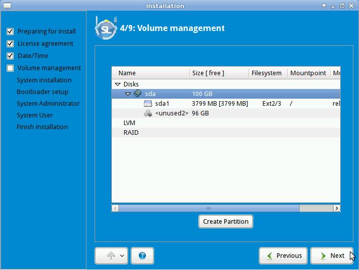 ALT Linux 6 Simply Partitioner