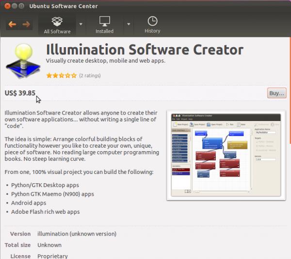 Ubuntu 11.10 Software Center Expensive