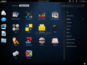 Sabayon 7 GNOME 3 Games