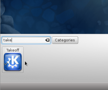 Add Takeoff Launcher Widget Fedora 16 KDE
