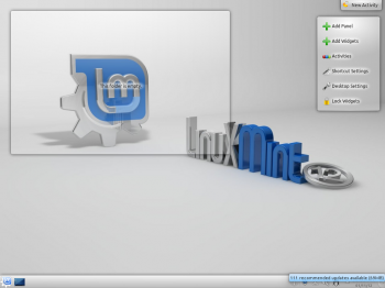 Linux Mint 12 KDE Default Wallpaper