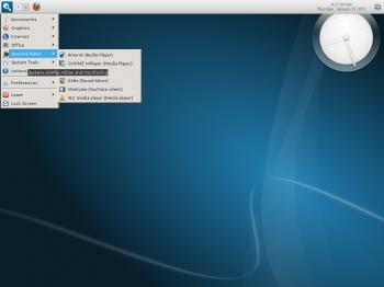 Linux Mint 12 Razor-qt Top Panel