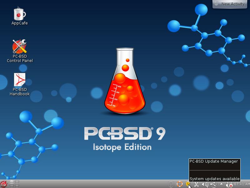 PCBSD 9 KDE Desktop